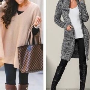 NWOT Black fleece lined leggings size S/M